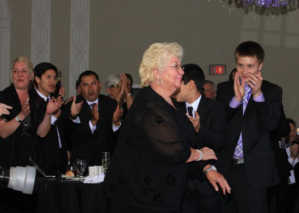"""Diane Marucca accepts Asbury Park Chamber of Commerce """"Landmark Business award"""" 2013"""