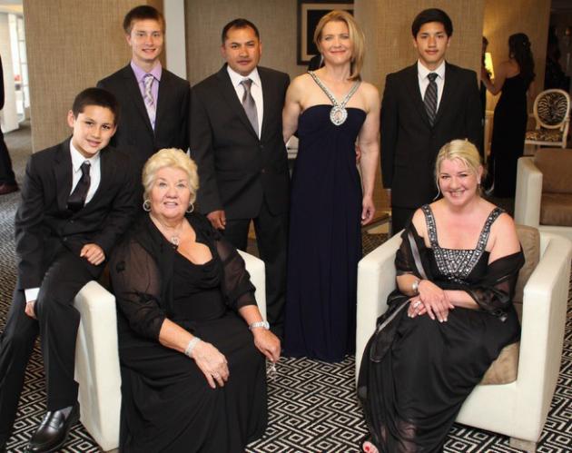 "Diane Marrucca, (owner of Jimmy's Italian Restaurant) and family receive Asbury Park Chamber of Commerce 2013  ""Landmark Business Award"""