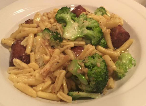 Cavatelli and Broccoli at Jimmy's Italian Restaurant, Asbury Park NJ