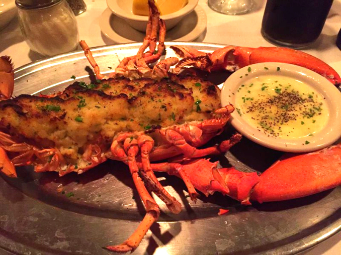 Stuffed Lobster at Jimmy's Italian Restaurant, Asbury Park NJ