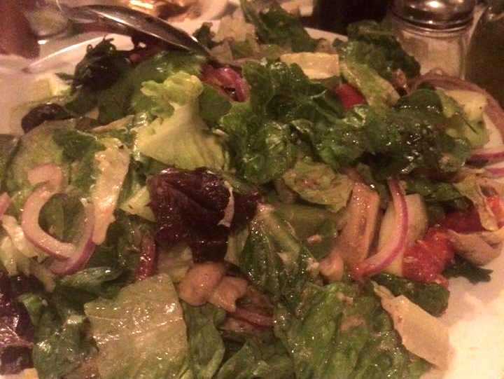 Fresh Salad at Jimmy's Italian Restaurant, Asbury Park NJ